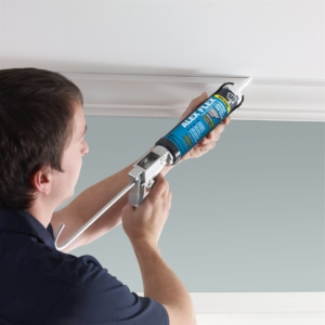 Contractor painting the ceiling   On Target Home Inspection   paint like a pro Orland Park